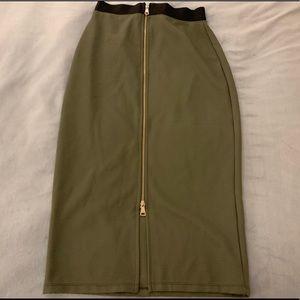 Bebe midi zipper skirt